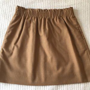 JCrew wool tan skirt